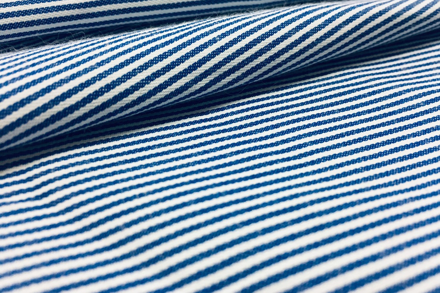 藍色直條色織布(CWLF006)