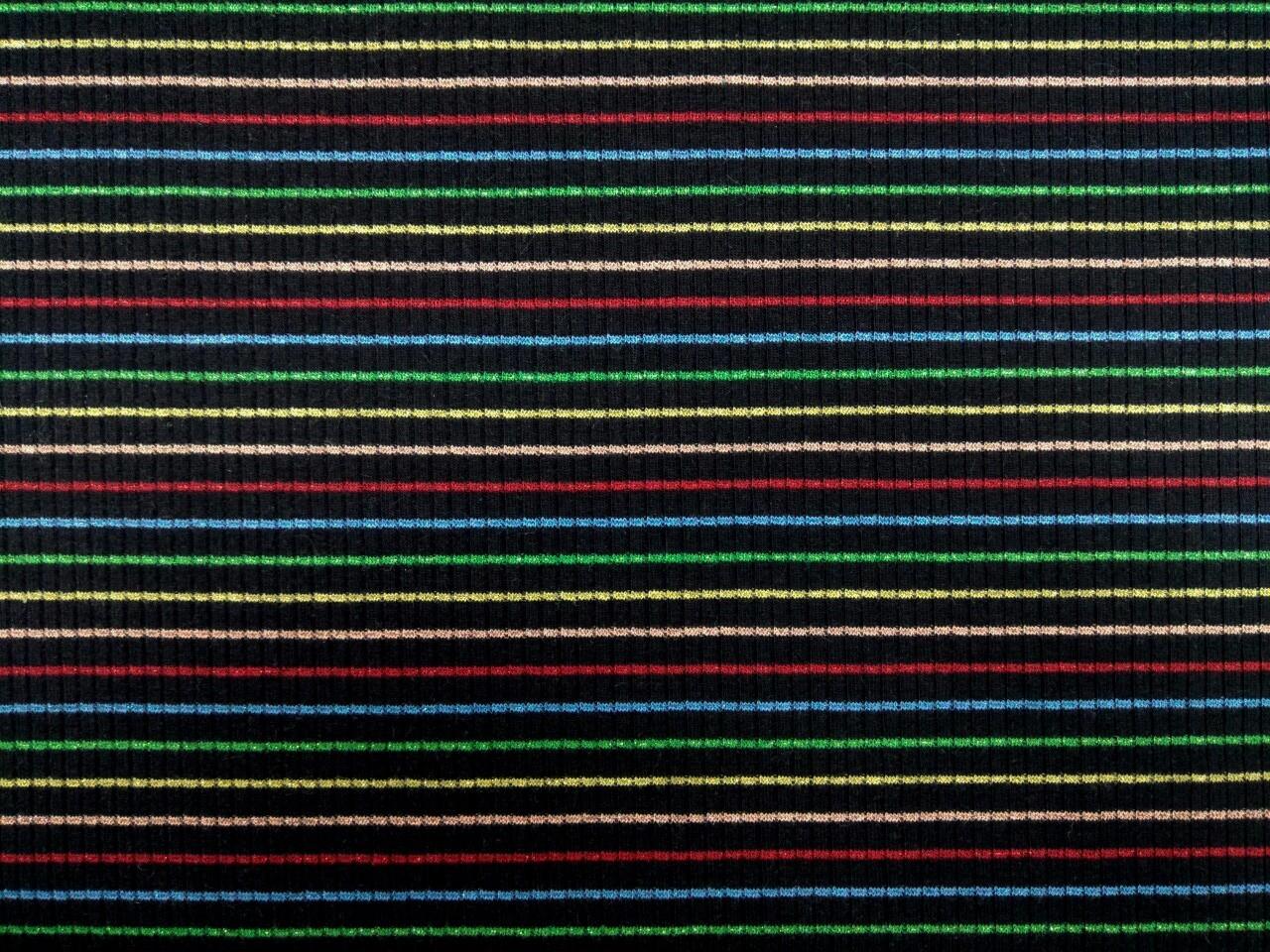 多彩織蔥橫條羅紋布 (CKLF022)