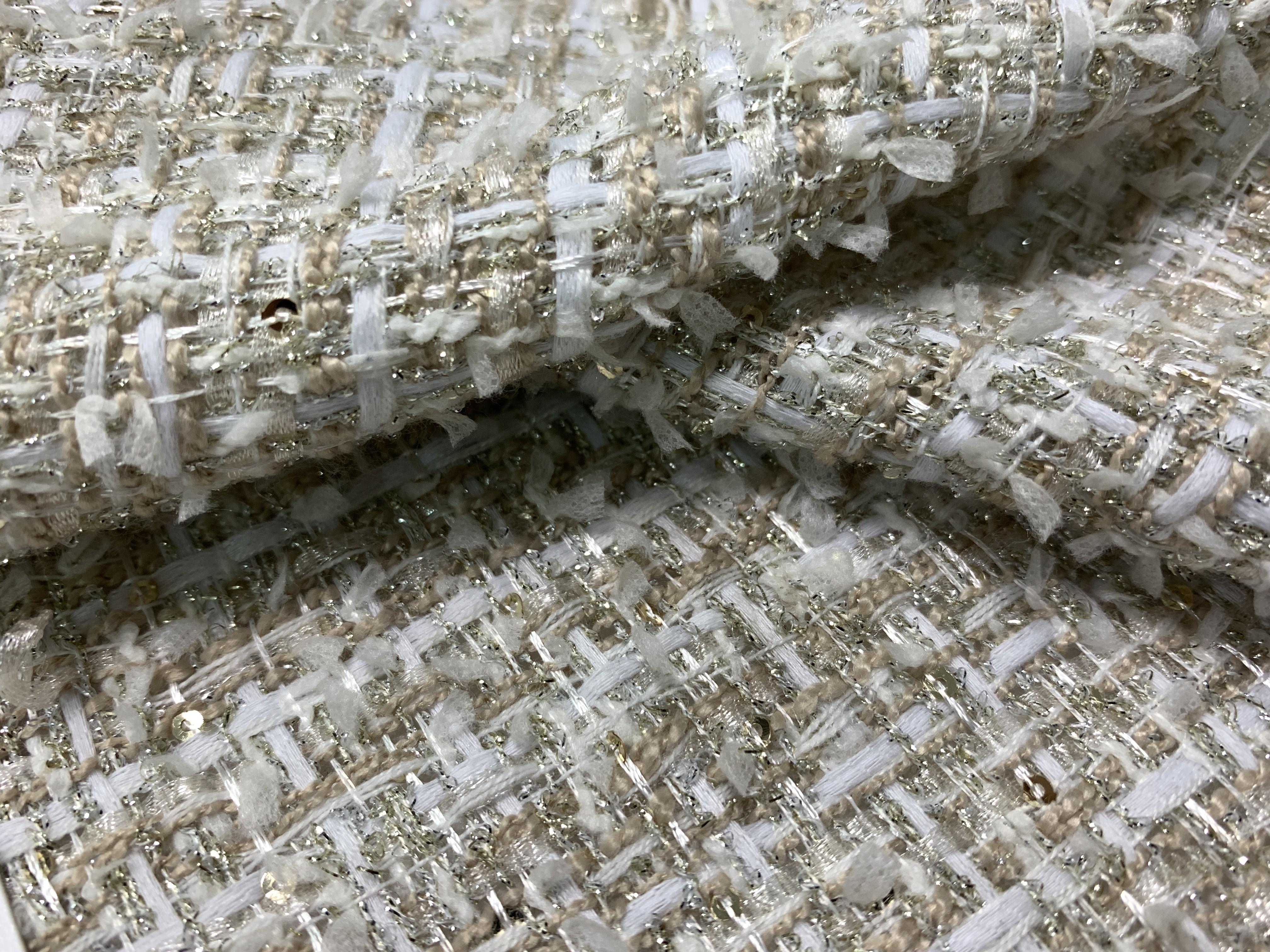 金蔥交織香奈兒布(CSLL029)