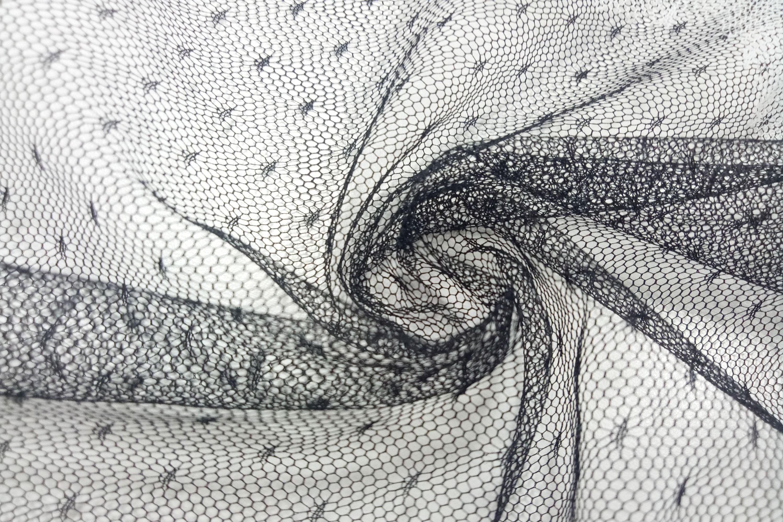 風格點點緹花蕾絲網布