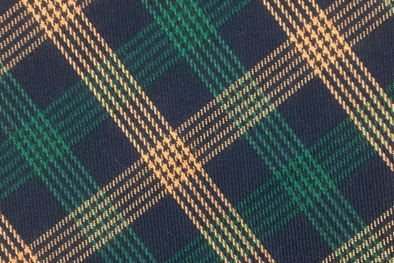 英式圖花格紋色紗布