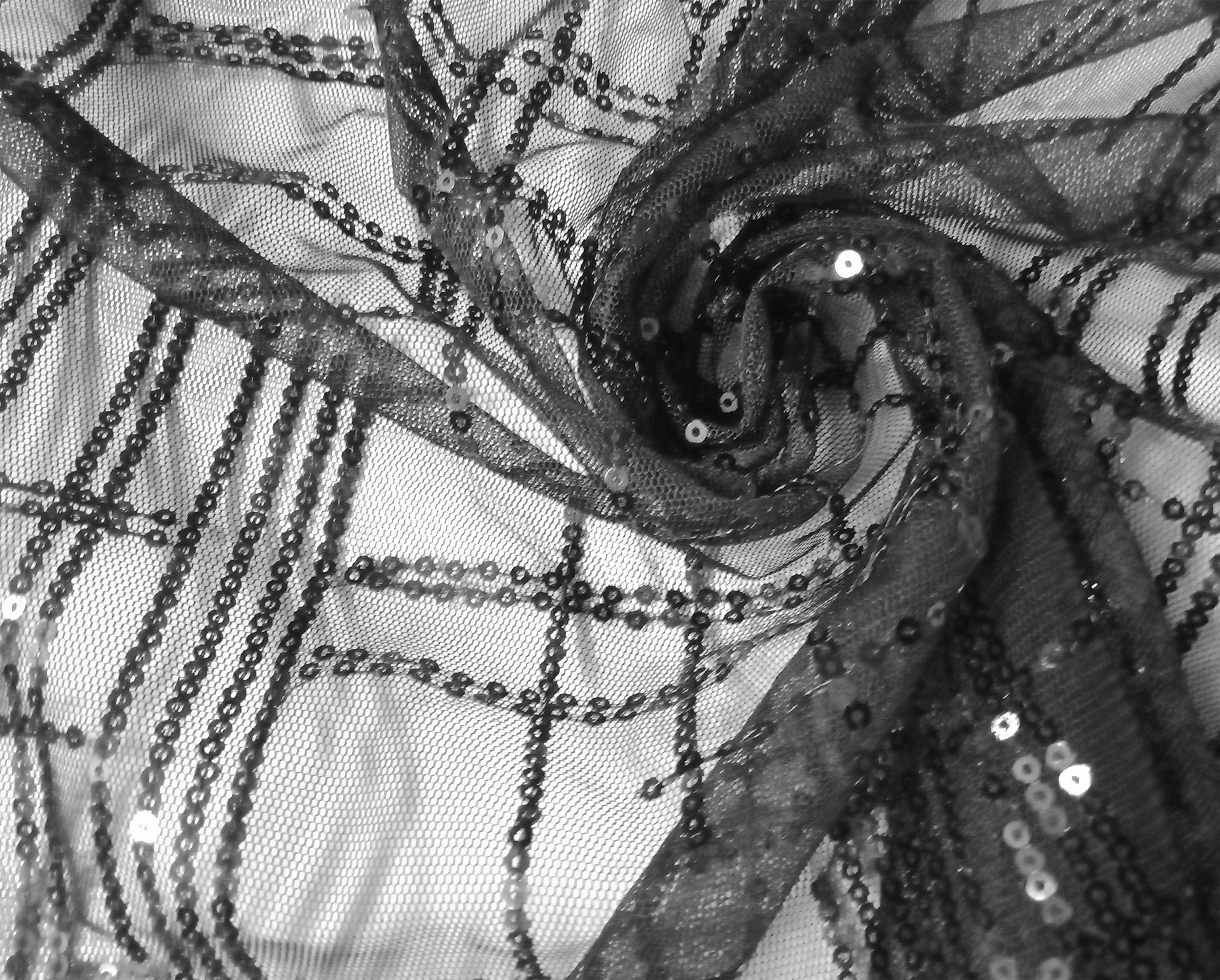 條紋亮片金屬布(CSLB005)