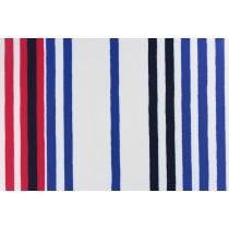 藍紅條紋印花布