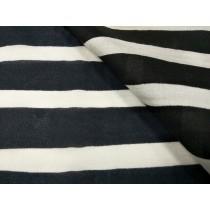 手繪風橫條絲棉布(CWLF016)