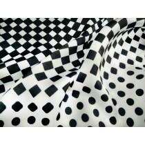 黑白圓點漸變印花布(CWRG018)