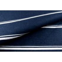 棉麻寬條紋印花布 (KWRF001)