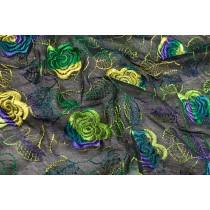 彩色牡丹繡花布