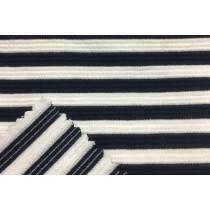 針織緹花深藍條紋布