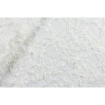 純白層次繡花蕾絲布  (CSLD010)