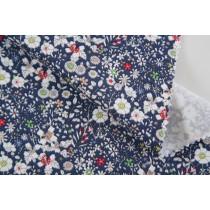 藍底小碎花印花布 (CWRM048)