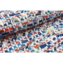 多色交織香奈兒織紋布