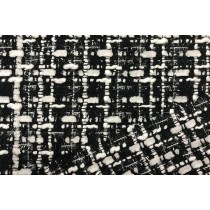 黑白交織香奈兒織紋布