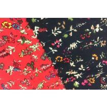 斜紋碎花磨毛印花布
