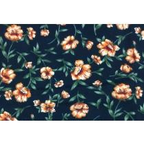 菊之花磨毛印花布