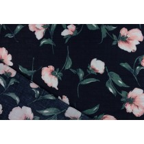 水彩桔梗花印花布