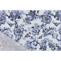 白梅藍調印花布