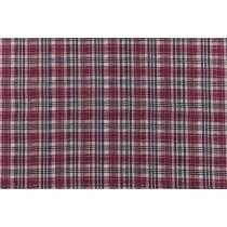 棉麻格子平織布