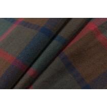 成熟系色紗格子平織布