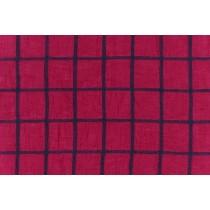 細線大格紋棉布