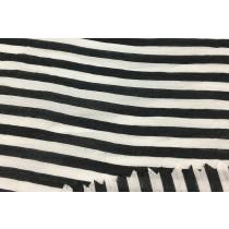天然材質黑條紋布