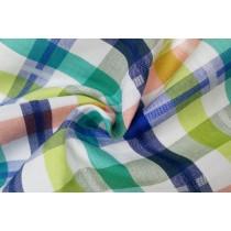 可愛多色格紋平織布