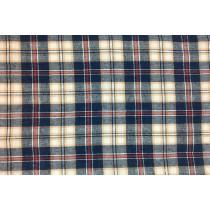 色紗織紅線格紋布