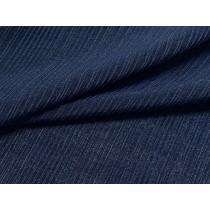 深藍細織羅紋布(KKLS001)