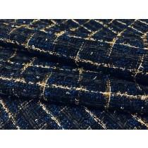 藍黑金蔥香奈兒布(CSLL049)